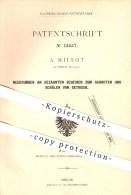 Original Patent - A. Millot In Zürich , Schweiz , 1879 , Gezahnte Scheiben Zum Schroten U. Schälen Von Getreide , Mühlen - Documents Historiques