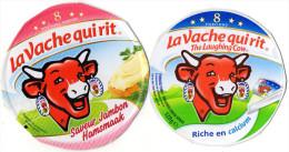 CARTONS ETIQUETTES FROMAGE   LA VACHE QUI RIT   8 Portions  (lot De 2) - Cheese
