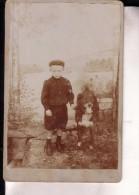 Enfant Et Son Chien Photo CDV Au Format Cabinet Par PETEIN, Vers 1900, Photographe à Mont-Saint-Guibert - Alte (vor 1900)