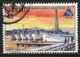 VANUATU 1985 - Mi. 704 O, EXPO 85, Japanese Fishing Fleet | Port - Vanuatu (1980-...)