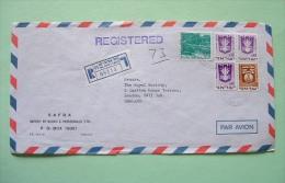Israel 1973 Registered Cover To England - Arms - Landscape - Brieven En Documenten
