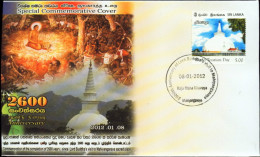 RELIGION-BUDDHISM-WORLD TOURISM DAY-SRI LANKA-2012-SPECIAL COVER-47-11 - Buddhism