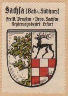 Werbemarke (Reklamemarke, Siegelmarke) Kaffee Hag : Wappen Von Bad Sachsa - Tea & Coffee Manufacturers