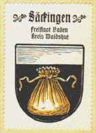 Werbemarke (Reklamemarke, Siegelmarke) Kaffee Hag : Wappen Von Säckingen - Tea & Coffee Manufacturers