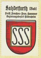 Werbemarke (Reklamemarke, Siegelmarke) Kaffee Hag : Wappen Von Bad Salzdetfurth - Tea & Coffee Manufacturers