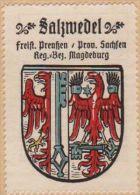 Werbemarke (Reklamemarke, Siegelmarke) Kaffee Hag : Wappen Von Salzwedel - Tea & Coffee Manufacturers