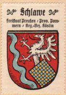Werbemarke (Reklamemarke, Siegelmarke) Kaffee Hag : Wappen Von Schlawe - Tea & Coffee Manufacturers