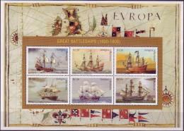 ( 1366 ) Antigua & Barbuda - Transport - Ships - Battleships ( 1600 - 1800 ) - Ships