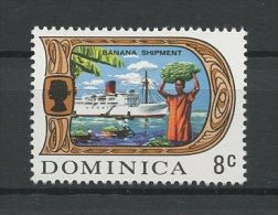 DOMINIQUE 1969 N� 270 ** Neuf = MNH Superbe Cote 0.65 € Bananes bateaux boats Agriculture transports Exportation