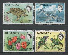 DOMINIQUE 1970 N� 292/295 ** Neufs = MNH Superbes Cote 8,50 € Faune fleurs tortues poissons oiseaux perroquet  Anim
