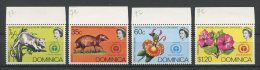 DOMINIQUE 1972 N� 331/334 ** Neufs = MNH Superbes Cote 8,50 € Faune fleurs Orchid�es Hibiscus Fauna flowers Animaux