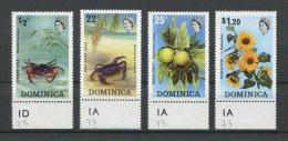 DOMINIQUE 1973 N� 362/365 ** Neufs = MNH Superbes Cote 4,60 € Faune fleurs Crabes crustac�s Fauna flowers Animaux