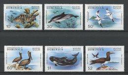 DOMINIQUE 1979 N� 603/608 ** Neufs = MNH Superbes Cote 16,50 € Faune marine Poissons c�tac�s oiseaux  bird Fauna An