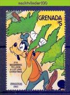 Nci297z WALT DISNEY GOOFY KERST KERSTBOOM CHRISTMAS GRENADA 1983 PF/MNH - Disney