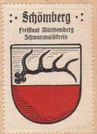 Werbemarke (Reklamemarke, Siegelmarke) Kaffee Hag : Wappen Von Schömberg - Tea & Coffee Manufacturers