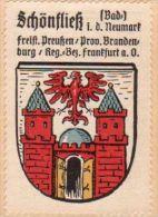 Werbemarke (Reklamemarke, Siegelmarke) Kaffee Hag : Wappen Von Schönfliess - Tea & Coffee Manufacturers