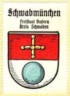 Werbemarke (Reklamemarke, Siegelmarke) Kaffee Hag : Wappen Von Schwabmünchen - Tea & Coffee Manufacturers
