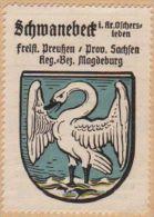 Werbemarke (Reklamemarke, Siegelmarke) Kaffee Hag : Wappen Von Schwanebeck - Tea & Coffee Manufacturers