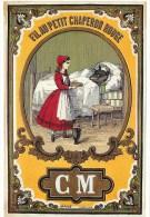 Rare édit; FORNEY - Illustrateur ;L. LEFEVRE - **Fil AU PETIT CHAPERON ROUGE **Les Contes Dans La Pub  Mercerie - CPSM . - Fairy Tales, Popular Stories & Legends