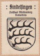 Werbemarke (Reklamemarke, Siegelmarke) Kaffee Hag : Wappen Von Sindelfingen - Tea & Coffee Manufacturers