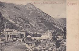 C P A---65---CAUTERETS---la Gare De La Raillère Et La Passerelle---voir 2 Scans - Cauterets
