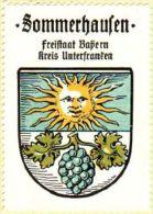 Werbemarke (Reklamemarke, Siegelmarke) Kaffee Hag : Wappen Von Sommerhausen - Tea & Coffee Manufacturers