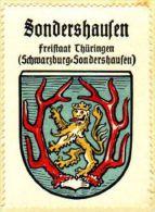 Werbemarke (Reklamemarke, Siegelmarke) Kaffee Hag : Wappen Von Sondershausen - Tea & Coffee Manufacturers