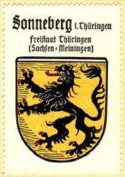 Werbemarke (Reklamemarke, Siegelmarke) Kaffee Hag : Wappen Von Sonneberg - Tea & Coffee Manufacturers