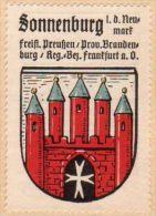 Werbemarke (Reklamemarke, Siegelmarke) Kaffee Hag : Wappen Von Sonnenburg - Tea & Coffee Manufacturers