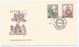 Tchécoslovaquie 1949 517 518 FDC Enfance - Childhood & Youth