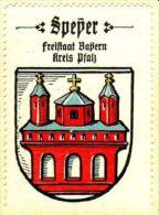 Werbemarke (Reklamemarke, Siegelmarke) Kaffee Hag : Wappen Von Speyer - Tea & Coffee Manufacturers