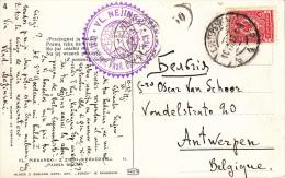 Esperanto, Kaart 1912, Van Rusland Naar Antwerpen (7007) - Esperanto