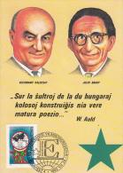 Esperanto, Hongarije, Baghy, Kalocsay, Maximumkaart, 1983 (7018) - Esperanto