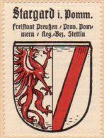 Werbemarke (Reklamemarke, Siegelmarke) Kaffee Hag : Wappen Von Stargard In Pommern - Tea & Coffee Manufacturers