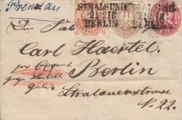 Nr 15, 16, 18, Op Brief Van Stralsund Naar Berlin (7034) - Prusse