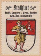 Werbemarke (Reklamemarke, Siegelmarke) Kaffee Hag : Wappen Von Stassfurt - Tea & Coffee Manufacturers