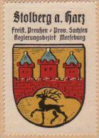 Werbemarke (Reklamemarke, Siegelmarke) Kaffee Hag : Wappen Von Stolberg Am Harz - Tea & Coffee Manufacturers