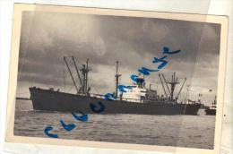 "Carte Photo Bateau Identifié "" Strasbourg "" C.T.O Liberty Ex SNCF 1947.48.ex Mantric 1959  Liban Ex J B Lennon Usa - Commerce"