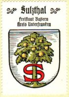 Werbemarke (Reklamemarke, Siegelmarke) Kaffee Hag : Wappen Von Sulzthal - Tea & Coffee Manufacturers