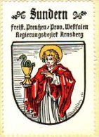Werbemarke (Reklamemarke, Siegelmarke) Kaffee Hag : Wappen Von Sundern - Tea & Coffee Manufacturers