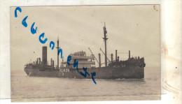 """CPA Carte Photo Ancienne Bateau Identifié """" P.L.M.24 """" S.N.C.F S.N.A COULE EN 1944 - Paquebots"""