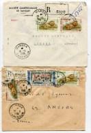 MAROUA 2  Env. Recom. De 1965 1966 - Covers & Documents