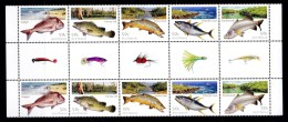Australia 2003 Fishing Gutter Block Of 10 MNH - 2000-09 Elizabeth II