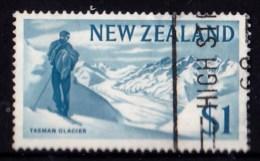 New Zealand 1967 Decimal Currency $1 Tasman Glacier Used - New Zealand
