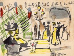 CARTE DE VISITE  LA CLOSERIE DES LILAS  Paris  ANNEES 1960 - Cartes De Visite