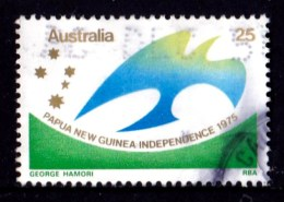 Australia 1975 Papua New Guinea Independence 25c Used - Used Stamps