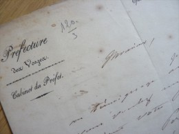 Nicolas ROUGIER De La BERGERIE (1784-1857) Prefet VOSGES (Epinal) , Lot Et Garonne - AUTOGRAPHE - Autographes
