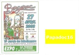 Enveloppe Illustrée - Bergerac - 15e Journée Des Collectionneurs  27 Avril 2003 - Autres Collections