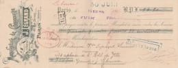 Lettre Change 25/5/1914 LEGRAND Chaussures Rue Servan PARIS Pour Libourne Gironde - Lettres De Change