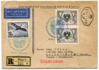 AUTRICHE LETTRE RECOMMANDEE PAR AVION DEPART WIEN 18-12-1954 POUR LA FRANCE - Posta Aerea